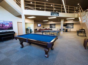 Large community center where you can relax with your peers