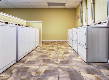 24-hour laundry facility available for all residents