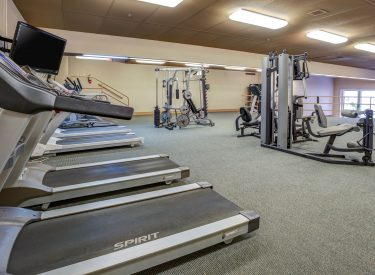 24-hour fitness facility available for all residents