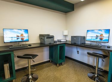 Community computer lab available to all residents
